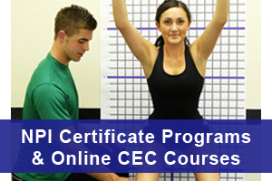 National Posture Institute Certificate Programs & Online CEC Courses